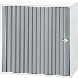 Querrollladenschrank Start Up, 2 OH, abschließbar, B 800 x T 420 x H 744 mm, Holz, weiß