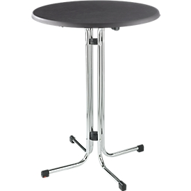 Quickstep-staaftafel, bestand tegen desinfectiemiddelen, chromen frame
