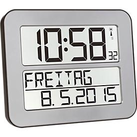 Radiografische klok Time Line MAX, zilver/zwart