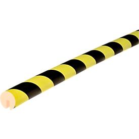 Randbeschermprofiel type B, 5 m/rol, geel/zwart