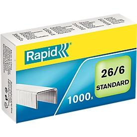 Rapid nietjes 26/6 mm, 1000 st