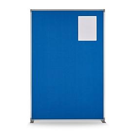Raumteiler magnetoplan, Textil doppelseitig/Metall, T-Tuß, B 1250 x T 350 x H 1800 mm, taubenblau