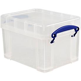 Really useful Box Opbergdoos met deksel, kunststof, transparant, 3 liter
