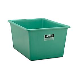Rechthoekige container Standaard, GFK, 1100 l, groen