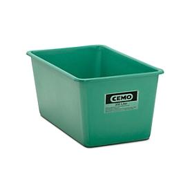 Rechthoekige container Standaard, GFK, 300 l, groen