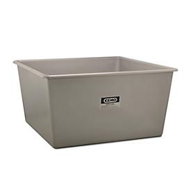 Rechthoekige container Standaard, GFK, 3300 l, grijs