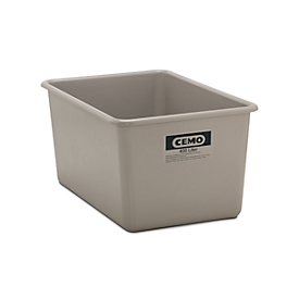 Rechthoekige container Standaard, GFK, 400 l, grijs
