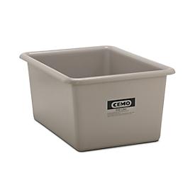 Rechthoekige container Standaard, GFK, 550 l, grijs