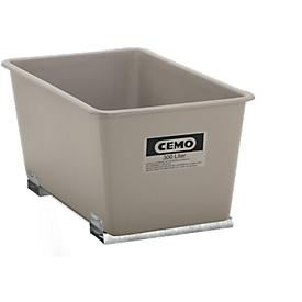 Rechthoekige container Standaard, GFK, met vorkheftrucksloffen, grijs, 300 l