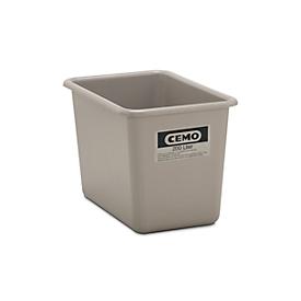 Rechthoekige container Standaard, grijs, 200 l hoog