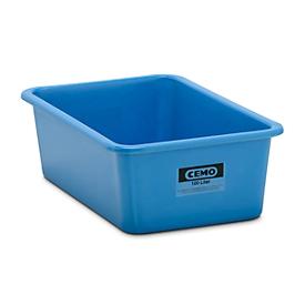 Recipiente rectangular estándar, PRFV, 100l, azul