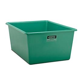 Recipiente rectangular estándar, PRFV, 1500l, verde