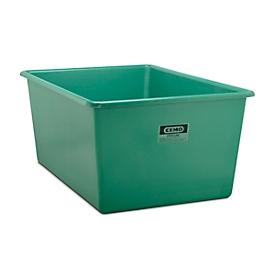 Recipiente rectangular estándar, PRFV, 2200l, verde