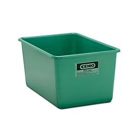 Recipiente rectangular estándar, PRFV, 400l, verde