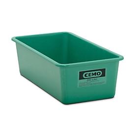 Recipiente rectangular estándar, verde, 200l aplanado