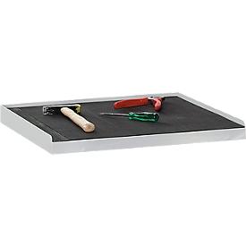 Recubrimiento de goma estriada, para armario de herramientas, 495 x 495mm