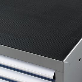 Recubrimiento de goma estriada para armario de herramientas WSK, negro, 1023 x 725mm