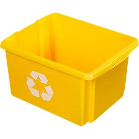 Recycle-Box Sunware Nesta, 32 l, L 455 x B 360 x H 240 mm, geel