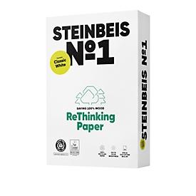 Recyclingpapier Steinbeis №1, DIN A4, 80 g/m², presseweiß, 1 Karton = 5 x 500 Blatt