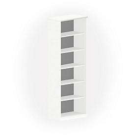 Regal NEVADA, B 800 x T 445 x H 2220 mm, weiß