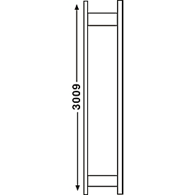 Regalsystem R 3000, Rahmen, H 2967 x T 300 mm