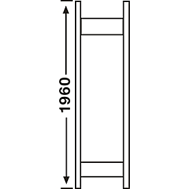 Regalsystem R3000, Rahmen,H1960 x 300mm