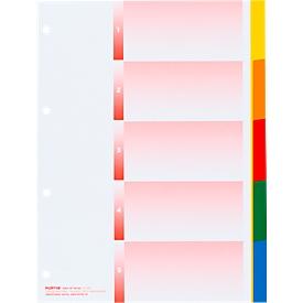 Register Kolmaflex, A4, blanko, 5 Tabs