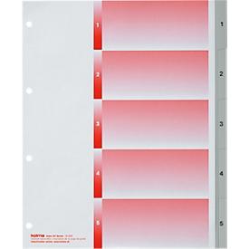 Register KolmaFlex XL, A4, mit Zahlen, 5-teilig