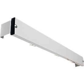 Regleta de ganchos para sistema de banco de vestuario, 1015mm de largo, aluminio, gris luminoso