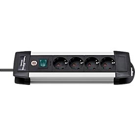 Regletas de alimentación Premium-Alu-Line, 4 tomas de corriente