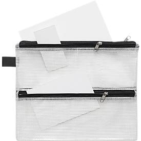 Reißverschlussbeutel-Vierkammern, DIN A5, sehr strapazierfähig, 10 Stück