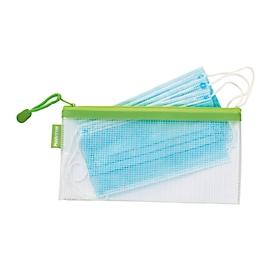 Reißverschlusstasche Kolma Mesh Bag, mit 5 x Mund- und Nasenschutz nach EN 14683: 2019 Typ I, EVA-Kunststoff
