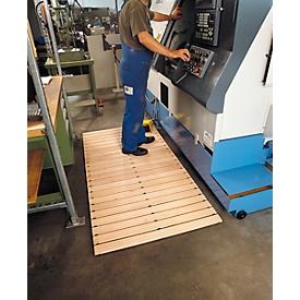 Rejilla transitable de seguridad en madera, anchura 800mm