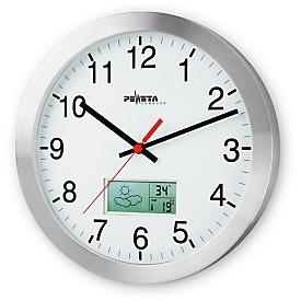 Reloj radiocontrolado con pronóstico del tiempo, ø 300 mm