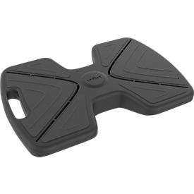 Reposapiés Unilux Updown, ergonómico, inclinable, revestimiento antideslizante, L 430 x An 337 x Al 135/90mm, PP y silicona, negro