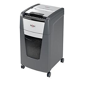Rexel Aktenvernichter Optimum AutoFeed+ 300X, vollautomatisch, Partikelschnitt 4 x 25 mm P-4, 60 l, 10-300 Blatt Schneidkapazität, mit Lenkrollen, schwarz
