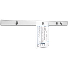 Riel magnético de pared MAUL, aluminio plateado