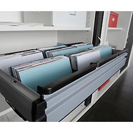 Riel para carpetas colgantes, para armario de persiana transversal, para anchura 800mm