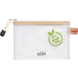 Ritszak FolderSys, lus & koord, PVC-vrij, transparant plastic, maat A6, 10 stuks