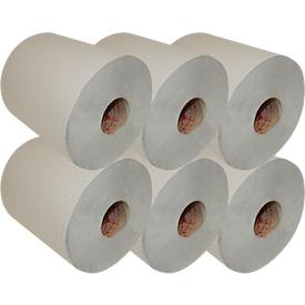 Rol handdoekpapier, 1-laags, 280 m, RC, 200 mm breed, 6 rollen