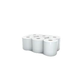 Rol handdoekpapier, 2-laags, 130 m, ZS, 200 mm breed, 6 rollen