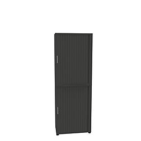 Roldeurkast, 2-delig, 6 OH, B 800 x D 450 x H 2300 mm, grafiet