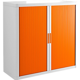 Roldeurkast, H 1040 mm, wit/oranje