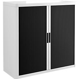 Roldeurkast, H 1040 mm, wit/zwart