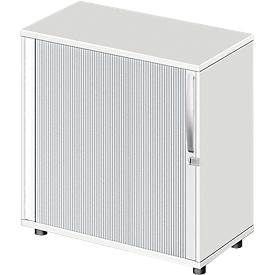 Roldeurkast LOGIN, 2 ordnerhoogten, afsluitbaar, B 800 x D 420 x H 744 mm, wit
