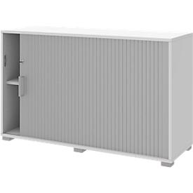 Roldeurkast TEQSTYLE, rechts openend, afsluitbaar, B 1200 x H 745 mm, wit