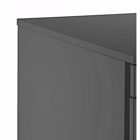 Rollcontainer 1233, Griff 1 rund, graphit/graphit