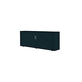 Rollladenschrank, 2 OH, 1teilig, mit Mitteltrennwand, B 1800 mm, graphit