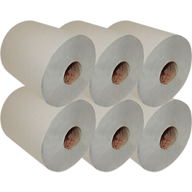 Rollo de papel para manos, 1 capa, 280 m, RC, anchura 200mm, 6 ruedas
