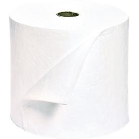 Rollos de fieltro aglutinante para aceite pequeños, absorción 173 l, sin perforación, L 40000 x An 400mm, blanco, 2 unidades